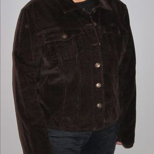 Chocolate brown corduroy jacket
